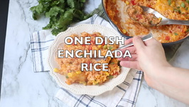 One Pot Enchilada Rice Bake