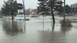Downtown Orangeville Under Water After Rain Falls Across Ontario