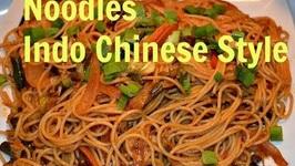 Indo Chinese Veg Hakka Noodles