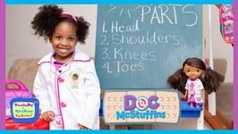 Doc McStuffins School  Learn Head, Shoulders, Knees and Toes Nursery Rhyme with Kyraboo