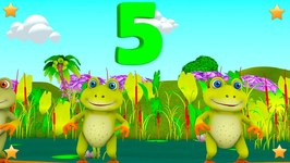 Five Little Speckled Frogs - Kindergarten Nursery Rhymes and Songs for Kids - Little Treehouse