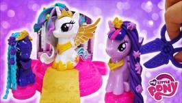 My Little Pony Canterlot Court Playdoh set with Celestia Luna And Twilight Sparkle