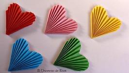 DIY, Decora tu Habitación con Corazones de Papel, Manualidades para San Valentín