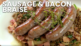 Sausage And Bacon Braise