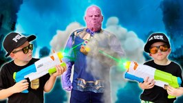 Avengers Infinity Thanos Playground Showdown Pretend Play Superhero Kids Video