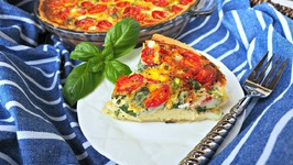 Breakfast Recipe- Savory Leek, Asparagus And Tomato Quiche