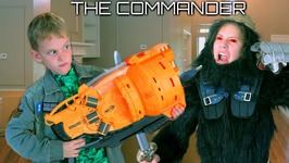 The Commander Wars - Nerf Blaster Gorilla Attack - Hope And Noah