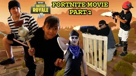 FORTNITE MOVIE PT.2 - FORTNITE DUOS IRL - D and D SQUAD BATTLES