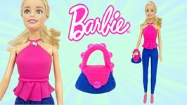 Play Doh Barbie Doll Clothes Fashion Dress Up Costumes Sparkle Play Doh Toys For Kids