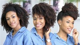 5 Coiffures And Soins Rapides - Cheveux Naturels Crépus Bouclés Frisés