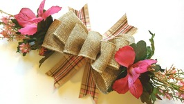 EASY BURLAP BOW TUTORIAL  DOLLAR TREE DIY  SPRING CRAFTS