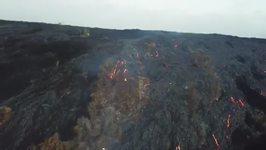 Drone Footage Shows Lava from Hawaii's Kilauea Volcano