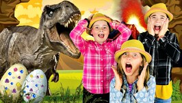 JURASSIC DINOSAUR EGGS with REAL LIFE DINOSAURS Learn How to Make Dinosaur Eggs