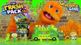 Fuzzy Puppet Reacts To Grossery Gang Trash Pack And Garbage Pail Kids Toys Series 1 2 And 3