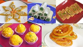 Diwali Sweets Video Recipes - Badam Katli, Kaju Pista Rolls, Jalebi, Burfi And Laddus
