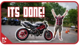 The Monster Is Finished - Wrecked Bike Rebuild - Ep 15 - Ducati Monster 1100
