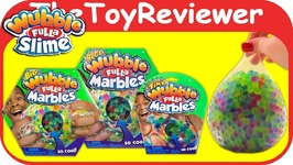 Wubble Fulla Marbles Ball Huge Big Tiny Squishy Bubble Slime Unboxing Toy Review