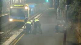 Drunk Woman Rescued From Path of Oncoming Train in Melbourne