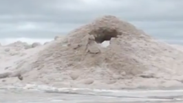 Sand Forms Mini 'Volcano' on Indiana Beach