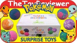 Bath Bomb Surprise Fizzie Pokemon Sky Organics Egg Mystery Unboxing Toy Review
