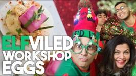 ELFviled Workshop Eggs - HOLIDAY DEVILED EGGS