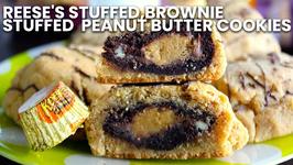 How To Make Reese's Stuffed, Brownie Stuffed Peanut Butter Cookies