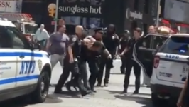 Police March Man to Vehicle Following Times Square Incident