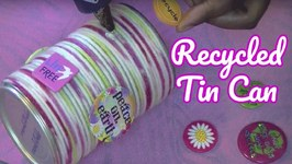 DIY Yarn Wrapped Recycled Tin Can