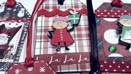 MINI CHRISTMAS GIFT TAGS  PAPER CRAFTING