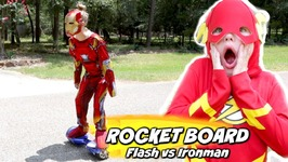 The Rocket Board - Flash vs Ironman Race Pranks Edition