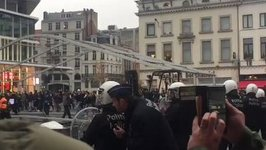 Police Clash With Social Media Star's Fans in Brussels