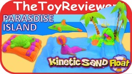 Kinetic Sand Float, Paradise Island Water Playset Unboxing Review