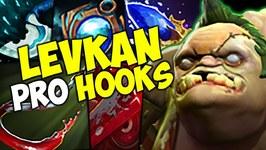 Levkan Pudge PRO HOOKS Dota 2