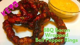 BBQ Bacon Wrapped Bell Pepper Rings