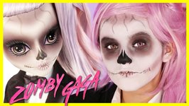 LADY GAGA BORN THIS WAY MONSTER HIGH DOLL MAKEUP TUTORIAL -  Zomby Gaga - Costume