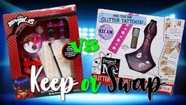 Keep or Swap Would you rather game - Miraculous Ladybug vs Project MC2 Tattoo Kit  EP 2