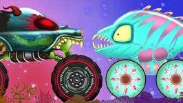 Aquatic World - Haunted House Monster Trucks - Cartoon Videos For Children - Kids Channel