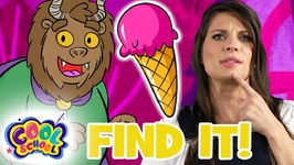 Find The Ice Cream Cone - Beauty and the Beast - Story Time with Ms Booksy - Find It Games