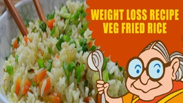 Vegetarian Recipes For Weight Loss - Green Vegetable Fried Rice -Diet Recipes For Weight Loss