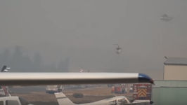 Firefighting Helicopters Use Pacific Union College Airstrip as Base