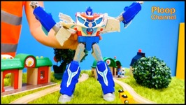 Brio City Crusher - Brio Toy Trains And Optimus Prime MegaTron Transformer Toys Videos For Kids