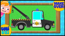 Police Tow Truck - Makeover Video for Kids and children