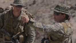 First Female Marine Graduates Infantry Officer Training