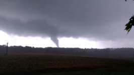 Possible Tornado Forms Near Polkville, North Carolina
