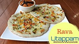 Rava Uttapam Quick Breakfast - Indian Recipes