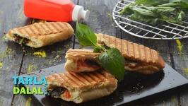 Tomato Basil Mozzarella Panini - Recipe In Hindi