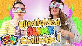 BLINDFOLDED SLIME CHALLENGE - With Ms. Booksy and Crafty Carol