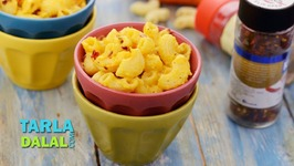 Macaroni In Cheesy Carrot Sauce-Recipe In Hindi