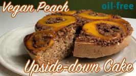 Vegan Peach Upside Down Cake Air Fried In 5 Minutes