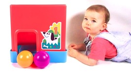 Baby Jessie Playing with Color Ball Drop Toy - Colors Learning Toy - Kid's Video